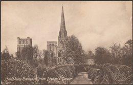 Chichester Cathedral From Bishop's Garden, Sussex, 1920 - WH Barrett Postcard - Chichester