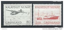 Groënland 1976 N°86/87 Neufs Transports Postaux Avions Et Bateaux - Greenland
