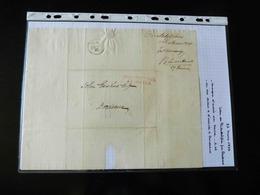 LETTRE DE PHILADELPHIE POUR BORDEAUX   1826  AVEC CACHET COLONIES PAR LE HAVRE - 1801-1848: Precursors XIX