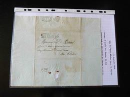 LETTRE DE ST DENIS REUNION POUR LE HAVRE   1833  AVEC CACHET PAYS D'OUTRE MER PAR LE HAVRE - 1801-1848: Precursors XIX