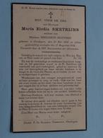 DP Marie Elodia SMETRIJNS ( Philemon Matthijs ) Oordegem 24 Mei 1864 - 17 Aug 1932 ( Zie/voir Photo ) ! - Overlijden