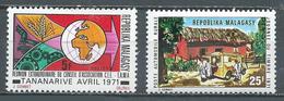Madagascar YT N°487-488 Conseil CEE-EAMA - Journée Du Timbre 1971 Neuf ** - Madagascar (1960-...)