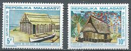 Madagascar YT N°493/494 Habitat Malgache Neuf ** - Madagascar (1960-...)