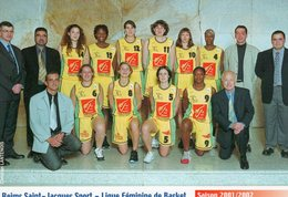 51 -REIMS SAINT JACQUES SPORT-LIGUE FEMININE- Saison 2001/2002 - Basket-ball
