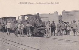 MISSOUR - LA GARE, ARRIVEE D'UN TRAIN - MAROC - Morocco