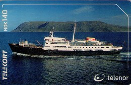 TARJETA TELEFONICA DE NORUEGA. N-214 (100) BARCOS - Noruega
