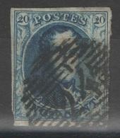 Belgique - YT 4 Oblitéré - 1849-1850 Médaillons (3/5)