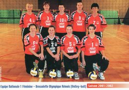 BROSSOLETTE OLYMPIQUE REMOIS-Nat 1 Féminine-Saison 2001/2002 - Volleyball