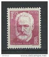 """FR YT 304 """" Victor Hugo """" 1935 Neuf** - Frankreich"""
