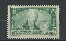 """FR YT 303 """" Congrès Des Caisses D'Epargne : Delessert """" 1935 Neuf** - Frankreich"""