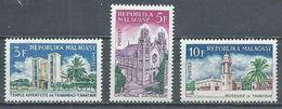Madagascar YT N°431/433 Edifices Religieux Neuf ** - Madagascar (1960-...)
