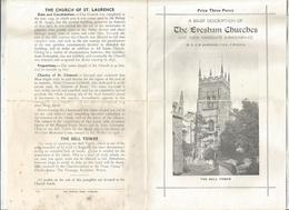 Dépliant Touristique, 4 Pages, A Description Of THE EVESHAM CHURCHES , Angleterre, Worcestershire , Frais Fr 1.45 E - Dépliants Turistici