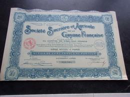 SUCRIERE AGRICOLE DE GUYANE (100 Francs,capital 4,52 Millions) - Shareholdings