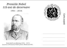 The Nobel  Prize 115 Years Emil Adolf Behring Nobel Prize In Medicine 1901 . Turda 2016 - Nobel Prize Laureates
