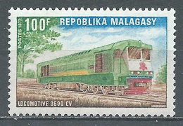 Madagascar YT N°503 Locomotive 3600CV Neuf ** - Madagascar (1960-...)