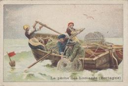 Chromos - Pêche Aux Homards Bretagne - Homardiers Concarneau Roscoff - Publicité Magasin Réaumur Paris - Non Classés