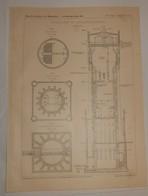 Plan Du Château D'eau De Lunebourg. Allemagne. 1908 - Opere Pubbliche