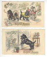 GERMAINE BOURET MIGNONETTE CHIEN  BONNE ANNEE LOT 2 MIGNONETTES /FREE SHIPPING REGISTERED - Bouret, Germaine