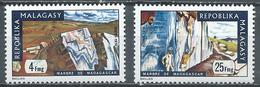 Madagascar YT N°543/544 Marbre Neuf ** - Madagascar (1960-...)