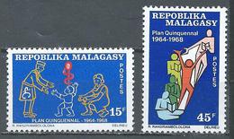 Madagascar YT N°458/459 Plan Quinquennal Neuf ** - Madagascar (1960-...)