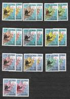 #167# STATE OF OMAN APOLLO 8 BLACK AND RED OVERPRINTED SETS MNH**. - Space