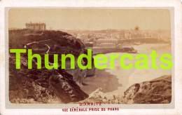 CDV PHOTO  BIARRITZ VUE GENERALE PRISE DU PHARE  ( DOS VIERGE ) - Anciennes (Av. 1900)