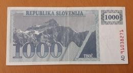 SLOVENIA 1000 Tolarjev 1990 Prefix AD Pick 9a Used - Slovenia