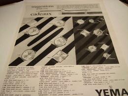ANCIENNE AFFICHE PUBLICITE AFFICHE CADEAU MONTRE YEMA 1964 - Autres