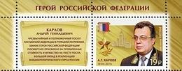 2017-2196 1v+label Russia Russland Russie Rusia Heroes Of Russia Diplomat Andrei Karlov  Mi 2413 MNH ** - 1992-.... Federazione