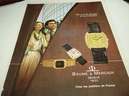 ANCIENNE AFFICHE PUBLICITE 150 ANS DE BEAUTE MONTRE BAUME & MERCIER  1980 - Bijoux & Horlogerie