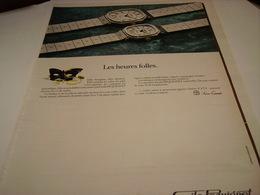 ANCIENNE AFFICHE PUBLICITE LES HEURES FOLLES MONTRE EMILE PEQUIGNET  1980 - Bijoux & Horlogerie