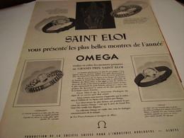 ANCIENNE PUBLICITE SAINT ELOI VOUS PRESENTE MONTRE OMEGA  1953 - Autres