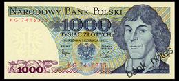 POLAND 1000 ZLOTYCH 1982 Pick 146c Unc - Poland