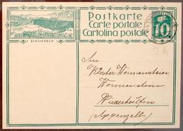 SCHWEIZ SUISSE 1929: CP 10c  Bild-PK EINSIEDELN Mit O UETIKON AM SEE 1.VI.29 Ans Kloster Wonnenstein (AR) - Interi Postali