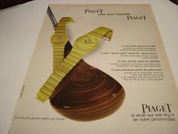 ANCIENNE PUBLICITE MONTRE PIAGET CREE  PIAGET 1980 - Bijoux & Horlogerie