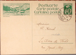 SCHWEIZ SUISSE 1927: CP 10c Bild-PK ADELBODEN Mit O LE LOCLE 7.XI.27 - Interi Postali