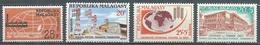Madagascar YT N°376-377-378-379 Foire De Tamatave - Faisceau Hertzien - Contre La Faim - Journée Du Timbre 1963 Neuf ** - Madagascar (1960-...)
