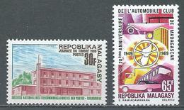 Madagascar YT N°462-463 Journée Du Timbre 1969 - Automobile-Club Neuf ** - Madagascar (1960-...)