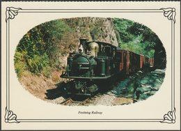 Festiniog Railway, Merionethshire - Colourmaster Postcard - Trains