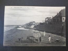 14 - Ver Sur Mer - CPA - La Plage Et La Digue - Lévy & Fils  - N°1 - Collection Monceaux  - 1908 - T B.E - - Andere Gemeenten