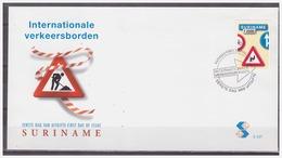Surinam / Suriname 2000 FDC 237 Trafficsign Nr. 2 Roadsign Verkehrsschild Panneau De Signalisation - Surinam
