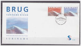 Surinam / Suriname 2000 FDC 238 Brug Bridge Brucke Pont Surinam River - Surinam