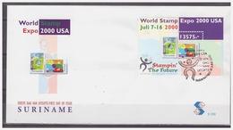 Surinam / Suriname 2000 FDC 239 World Stamp Expo 2000 USA S/S - Suriname