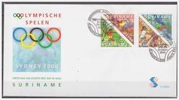 Surinam / Suriname 2000 FDC 239xx Olympic Olympiade Soccer Swimming Tennis Atletics - Suriname