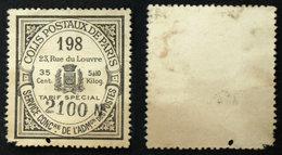 COLIS POSTAUX PARIS N° 37 Neuf NSG Déf. Cote 200€ - Colis Postaux