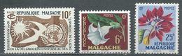 Madagascar YT N°335 Et 336/337 Droits De L'homme - Fleurs Neuf ** - Madagascar (1960-...)