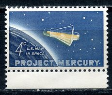 """USA 1962 822 PROJECT """"MERCURY"""" - Space"""