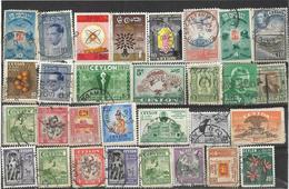 5Ez-650:restje Van  30 Zegels: . Diverse:..om Verder Uit Te Zoeken.. Enkele  Zelfs Dubbel.. - Sri Lanka (Ceylan) (1948-...)
