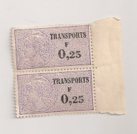TIMBRES FISCAUX  TRANSPORTS 0.25F  CPA1700 - Fiscaux