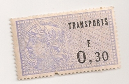 TIMBRE FISCAL  TRANSPORTS 0.30F  CPA1700 - Fiscaux